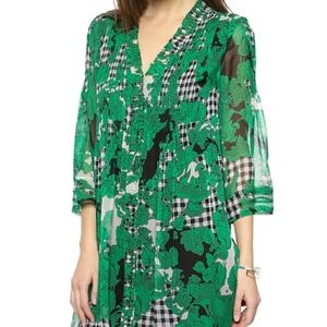 Diane von Furstenburg Silk Floral Dress